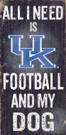 Kentucky Wildcats Football & Dog Wood Sign