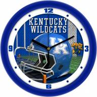 Kentucky Wildcats Football Helmet Wall Clock
