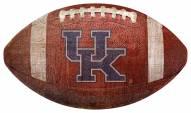 Kentucky Wildcats Football Shaped Sign
