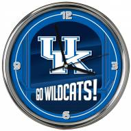 Kentucky Wildcats Go Team Chrome Clock
