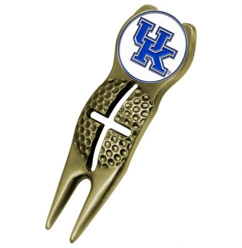 Kentucky Wildcats Gold Crosshairs Divot Tool