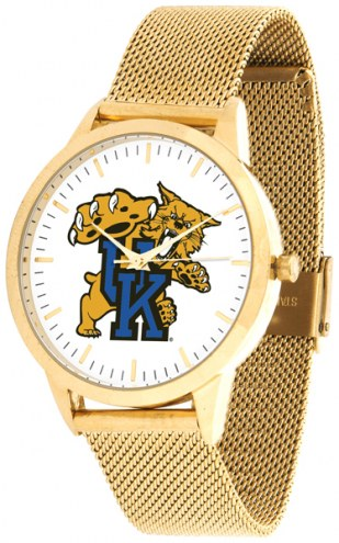 Kentucky Wildcats Gold Mesh Statement Watch