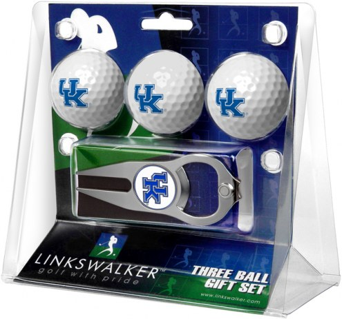 Kentucky Wildcats Golf Ball Gift Pack with Hat Trick Divot Tool