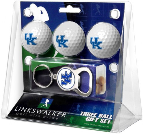 Kentucky Wildcats Golf Ball Gift Pack with Key Chain