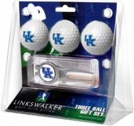 Kentucky Wildcats Golf Ball Gift Pack with Kool Tool