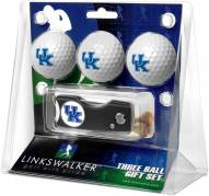 Kentucky Wildcats Golf Ball Gift Pack with Spring Action Divot Tool