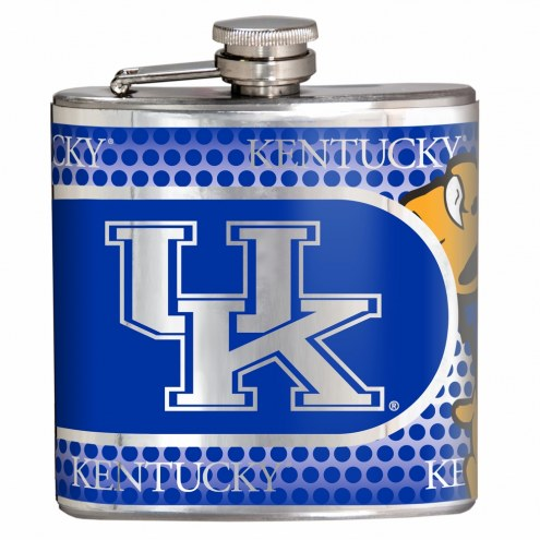 Kentucky Wildcats Hi-Def Stainless Steel Flask