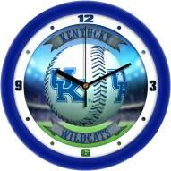Kentucky Wildcats Home Run Wall Clock