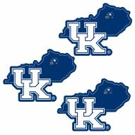 Kentucky Wildcats Home State Decal - 3 Pack