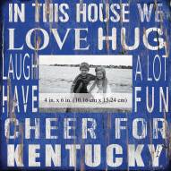 "Kentucky Wildcats In This House 10"" x 10"" Picture Frame"
