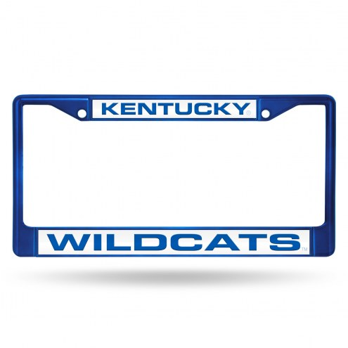 Kentucky Wildcats Laser Colored Chrome License Plate Frame