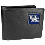 Kentucky Wildcats Leather Bi-fold Wallet in Gift Box