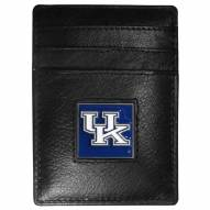 Kentucky Wildcats Leather Money Clip/Cardholder in Gift Box