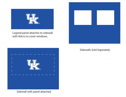 Kentucky Wildcats Logo Canopy Sidewall Panel (Attaches to Window Sidewall)