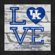 Kentucky Wildcats Love My Team Square Wall Decor