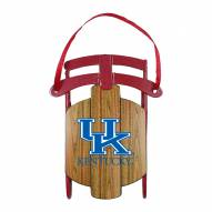 Kentucky Wildcats Metal Sled Tree Ornament