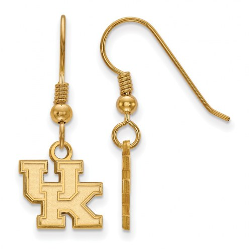 Kentucky Wildcats NCAA Sterling Silver Gold Plated Extra Small Dangle Earrings