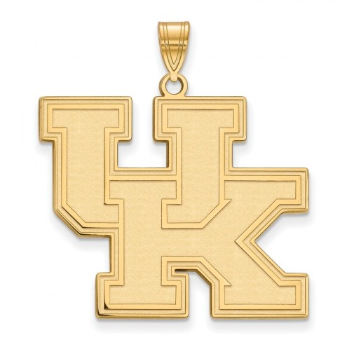 Kentucky Wildcats NCAA Sterling Silver Gold Plated Extra Large Pendant