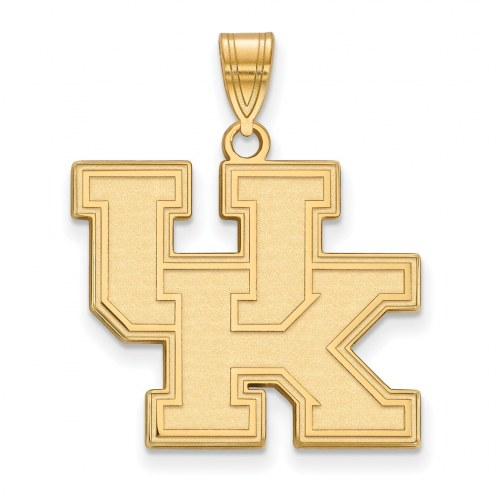 Kentucky Wildcats NCAA Sterling Silver Gold Plated Large Pendant