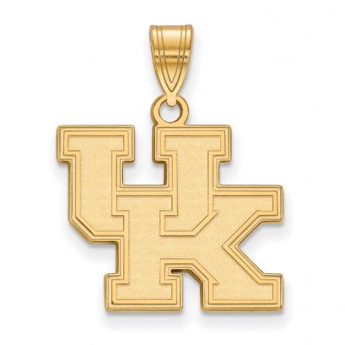 Kentucky Wildcats NCAA Sterling Silver Gold Plated Medium Pendant