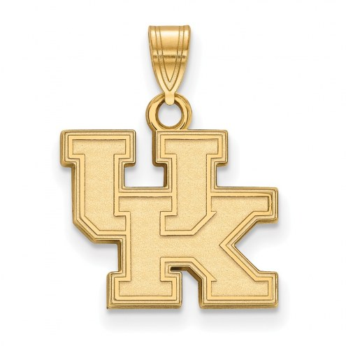 Kentucky Wildcats NCAA Sterling Silver Gold Plated Small Pendant