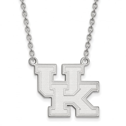 Kentucky Wildcats Sterling Silver Large Pendant Necklace