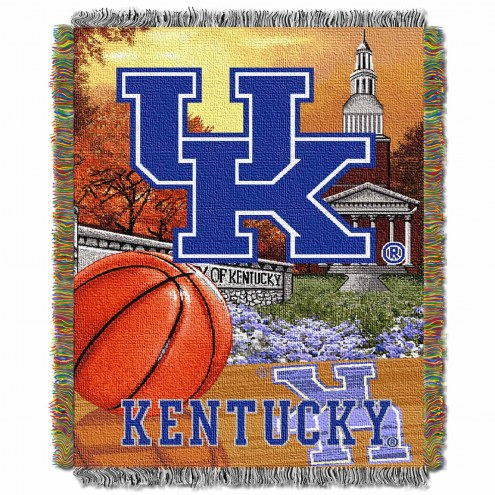 Kentucky Wildcats NCAA Woven Tapestry Throw / Blanket