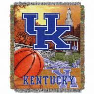Kentucky Wildcats NCAA Woven Tapestry Throw / Blanket