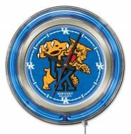 Kentucky Wildcats Neon Clock
