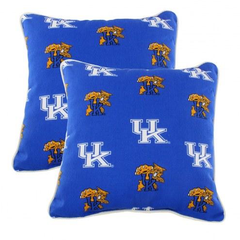 Kentucky Wildcats Outdoor Decorative Pillow Set