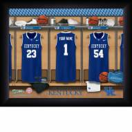 Kentucky Wildcats Personalized Basketball Locker Room 11 x 14 Framed Photograph