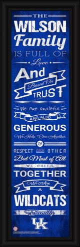 Kentucky Wildcats Personalized Family Cheer Framed Art