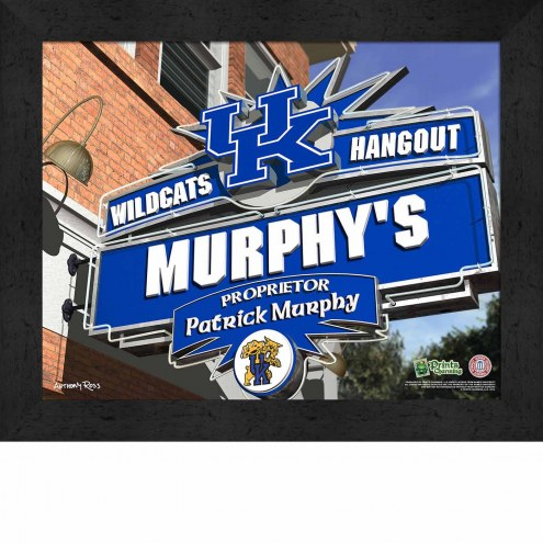 Kentucky Wildcats 11 x 14 Personalized Framed Sports Pub Print