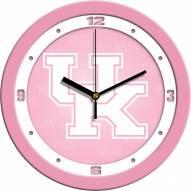 Kentucky Wildcats Pink Wall Clock