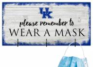 Kentucky Wildcats Please Wear Your Mask Sign