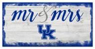 Kentucky Wildcats Script Mr. & Mrs. Sign