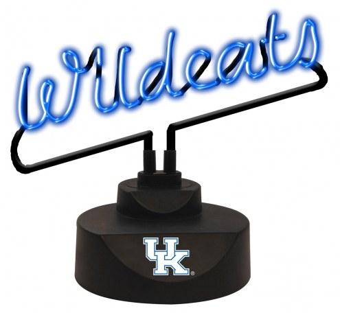 Kentucky Wildcats Script Neon Desk Lamp