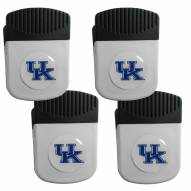 Kentucky Wildcats 4 Pack Chip Clip Magnet with Bottle Opener