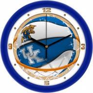 Kentucky Wildcats Slam Dunk Wall Clock