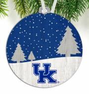 Kentucky Wildcats Snow Scene Ornament