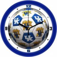 Kentucky Wildcats Soccer Wall Clock