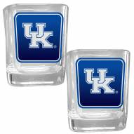 Kentucky Wildcats Square Glass Shot Glass Set