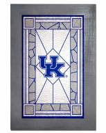 Kentucky Wildcats Stained Glass with Frame