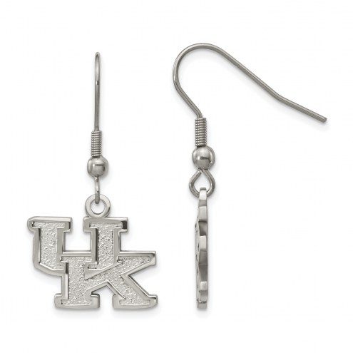 Kentucky Wildcats Stainless Steel Dangle Earrings