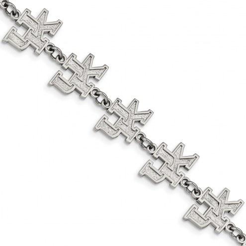 Kentucky Wildcats Stainless Steel Logo Bracelet