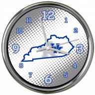 Kentucky Wildcats State of Mind Chrome Clock