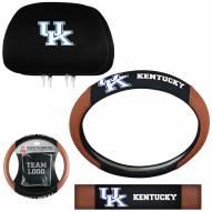 Kentucky Wildcats Steering Wheel & Headrest Cover Set