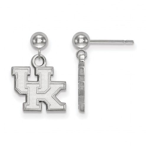 Kentucky Wildcats Sterling Silver Dangle Ball Earrings