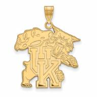 Kentucky Wildcats Sterling Silver Gold Plated Extra Large Pendant