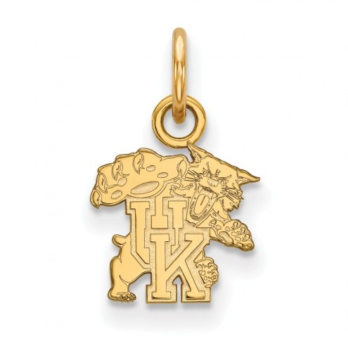 Kentucky Wildcats Sterling Silver Gold Plated Extra Small Pendant